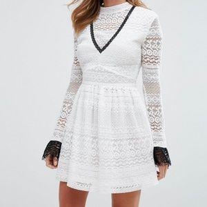 ASOS Millie Mackintosh white lace dress - US 8